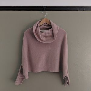 Anthopology Cashmere Cropped Sweater
